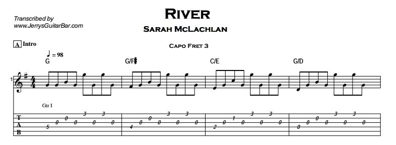 Joni Mitchell / Sarah McLachlan – River Tab