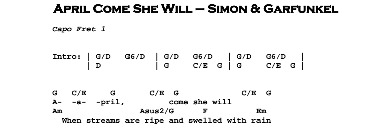 April Come She Will | Guitar Lesson, Tabs & Chords | Jerry\'s Guitar Bar