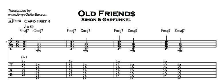 Simon & Garfunkel – Old Friends Tab