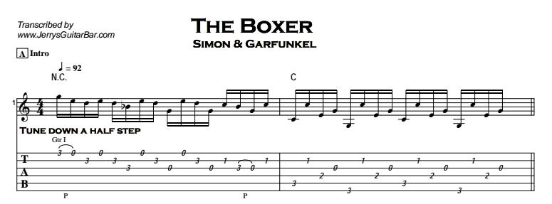Simon & Garfunkel – The Boxer Tab