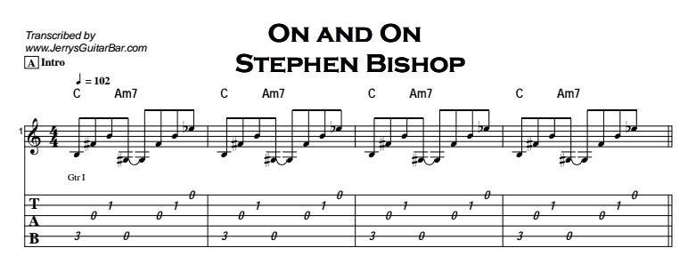 Stephen Bishop - On and On Tab
