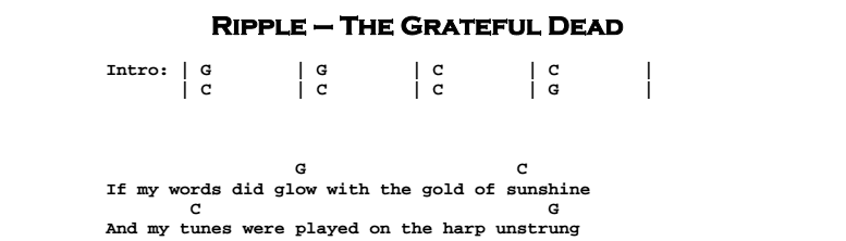 The Grateful Dead - Ripple | Guitar Lesson, Tabs & Chords | JGB