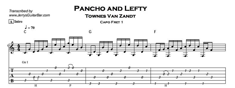 how to play song pancho and lefty