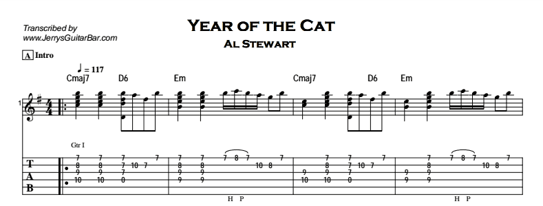 Al Stewart – Year of the Cat Tab