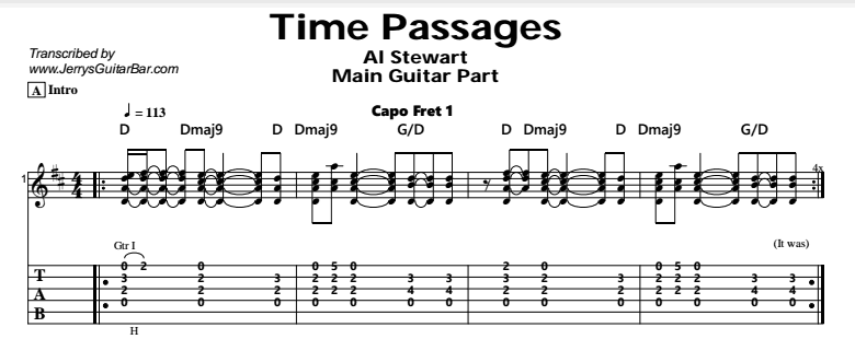 Al Stewart – Time Passages Tab