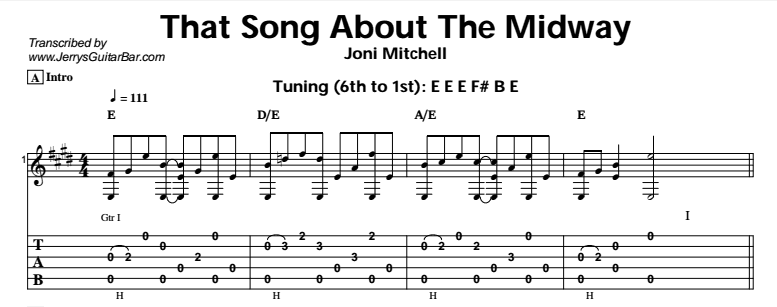 Joni Mitchell – That Song About The Midway Tab