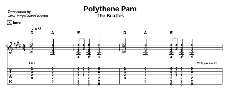 The Beatles – Mean Mr Mustard / Her Majesty / Polythene Pam Tab