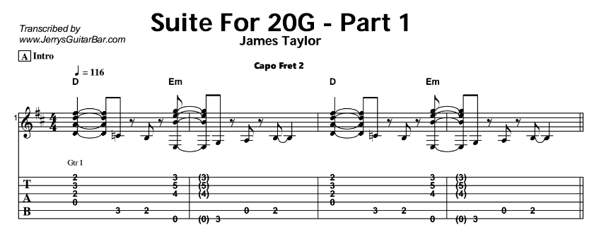 James Taylor – Suite For 20G Tab