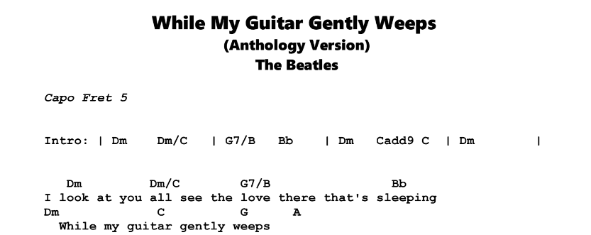 While My Guitar Gently Weeps | Guitar Lesson, Tab & Chords | JGB