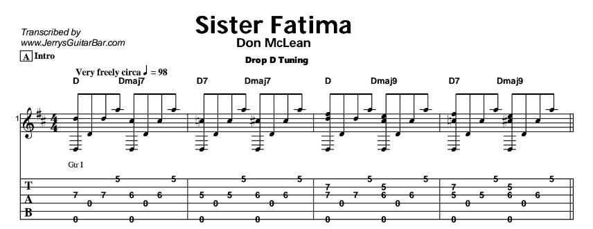 Don McLean – Sister Fatima Tab