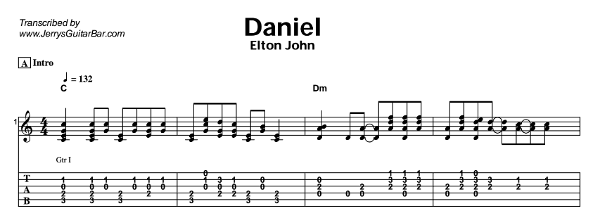 Elton John - Daniel Tab