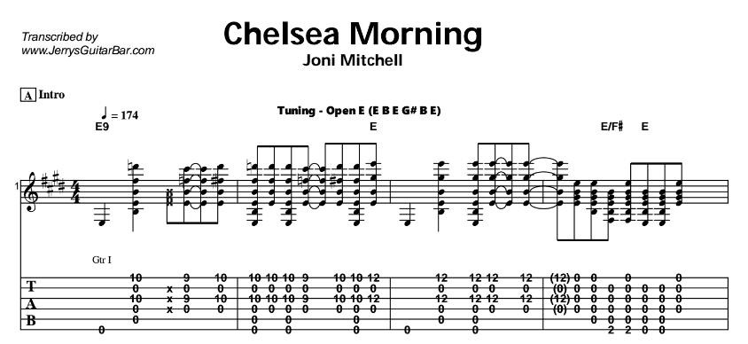 Joni Mitchell – Chelsea Morning Tab
