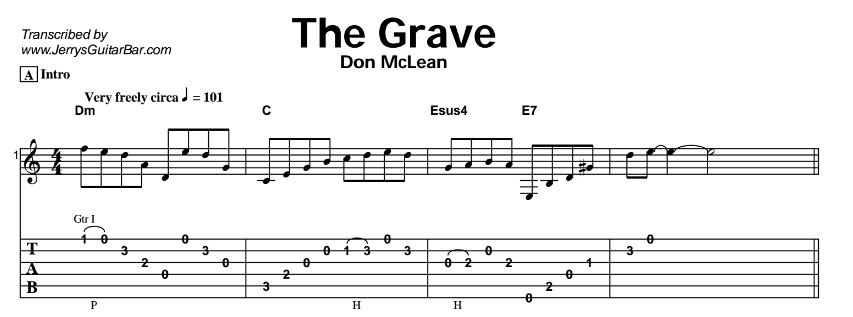 Don McLean – The Grave Tab