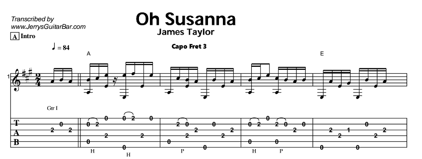 James Taylor – Oh Susanna Tab