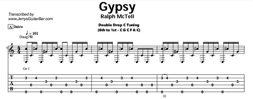 Ralph McTell - Gypsy Tab