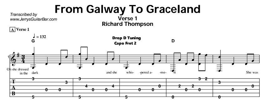 Richard Thompson – From Galway To Graceland Tab