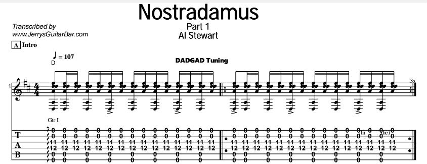 Al Stewart - Nostradamus Tab