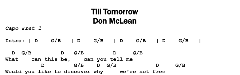 Till Tomorrow Guitar Lesson Tab Chords Jerrys Guitar Bar