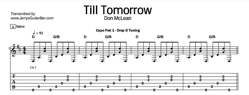 Don McLean – Till Tomorrow Tab
