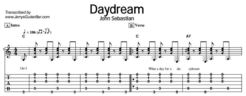 John Sebastian - Daydream Tab
