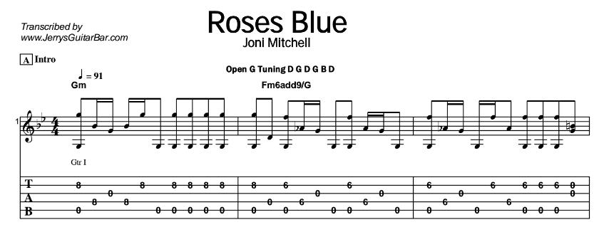 Joni Mitchell – Roses Blue Tab