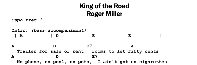 Roger Miller – King of the Road | Guitar Lesson, Tab & Chords | JGB