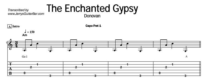 Donovan – The Enchanted Gypsy Tab