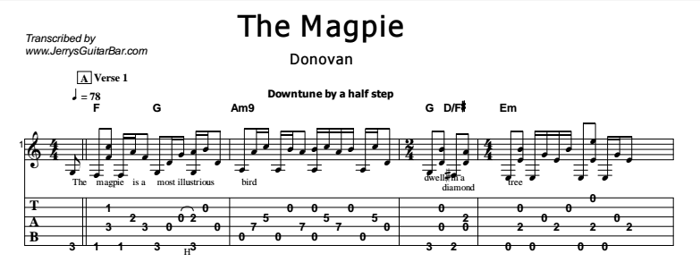 Donovan - The Magpie Tab