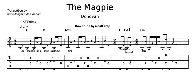 Donovan - The Magpie Tab
