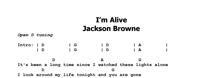Jackson Browne - I\'m Alive - Guitar Lesson by Jerry\'s Guitar Bar