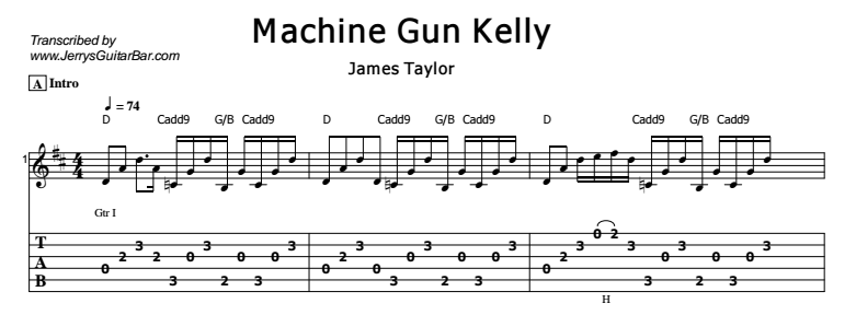 James Taylor - Machine Gun Kelly Tab