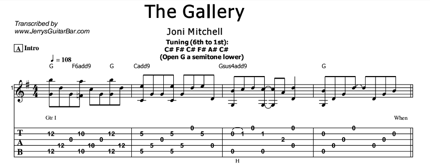 Joni Mitchell – The Gallery Tab