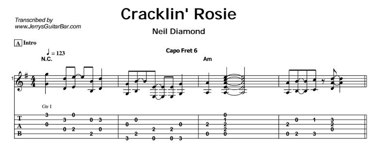 Neil Diamond – Cracklin' Rosie Tab