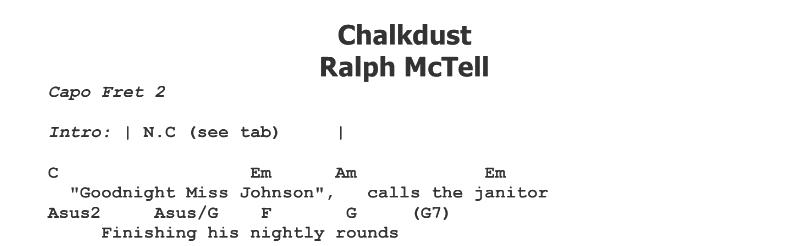 Ralph McTell - Chalkdust Tab