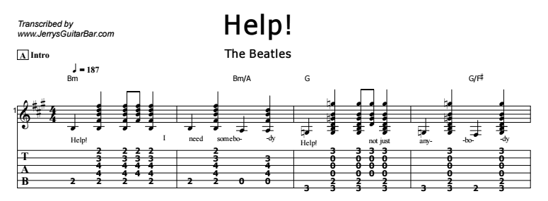 The Beatles – Help! Tab