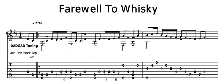 Celtic Instrumental - Farewell to Whisky (Scottish Folk Tune) Tab