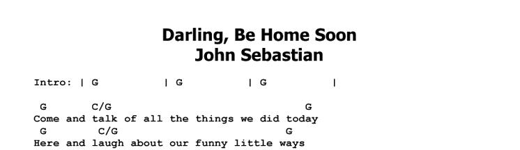 John Sebastian - Darling Be Home Soon ~ Guitar Lesson | JGB