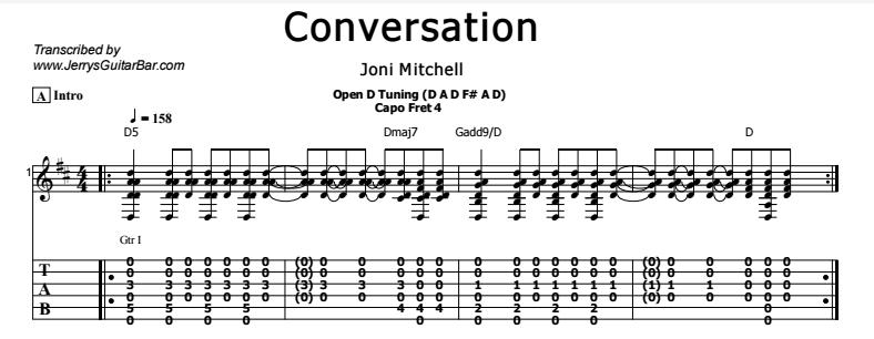 Joni Mitchell - Conversation Tab
