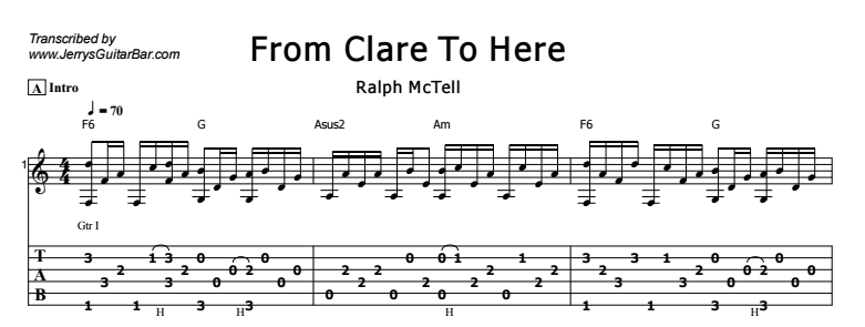 Ralph McTell - From Clare To Here Tab