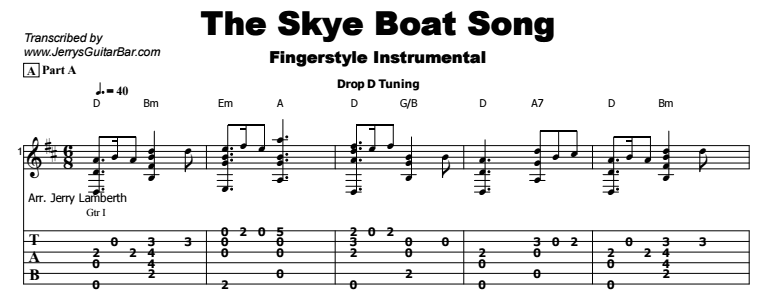 Celtic Instrumental - The Skye Boat Song Tab