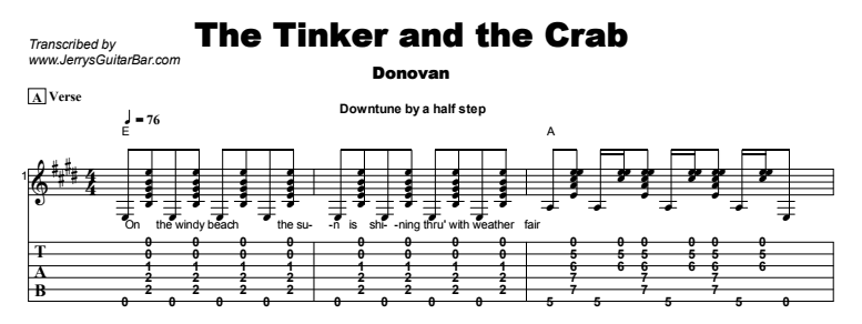 Donovan - The Tinker and the Crab Tab