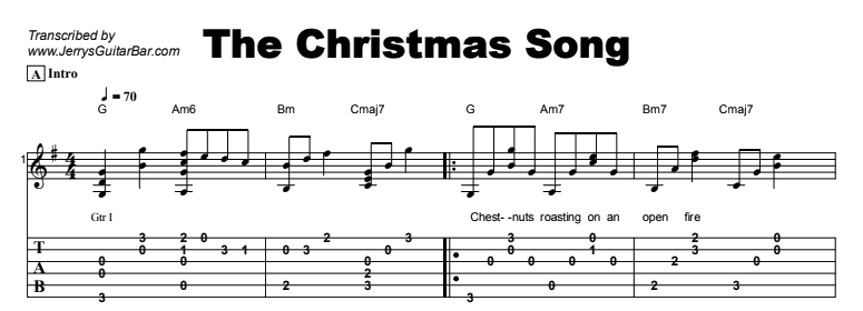 Christmas Songs - The Christmas Song Tab