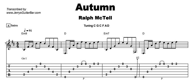 Ralph McTell - Autumn Tab
