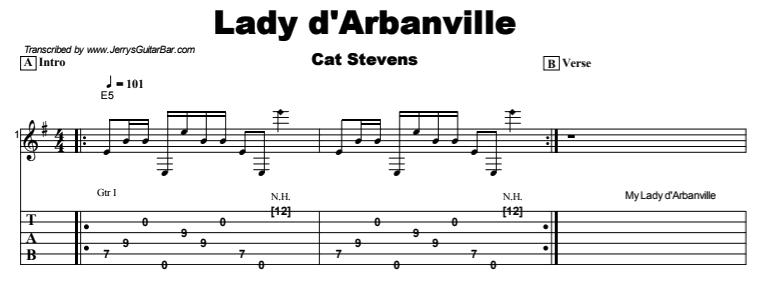 Cat Stevens - Lady d'Arbanville Tab