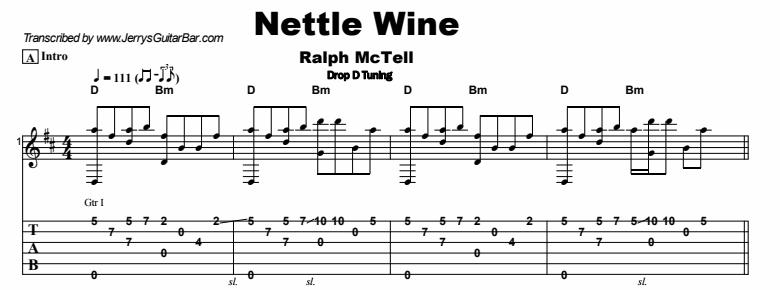 Ralph McTell - Nettle Wine Tab