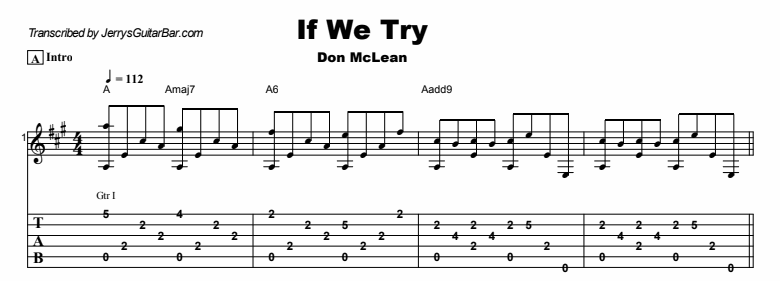 Don McLean - If We Try Tab