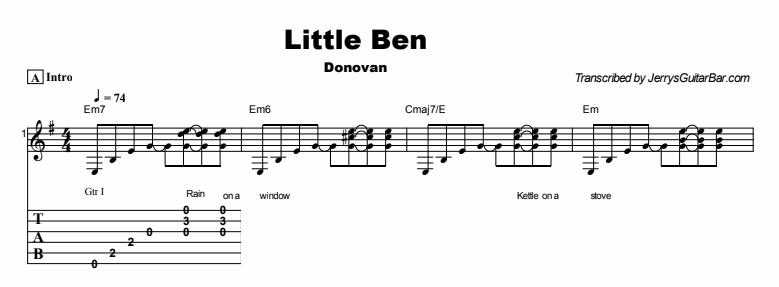 Donovan - Little Ben Tab