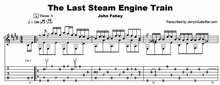 John Fahey - The Last Steam Engine Train Tab