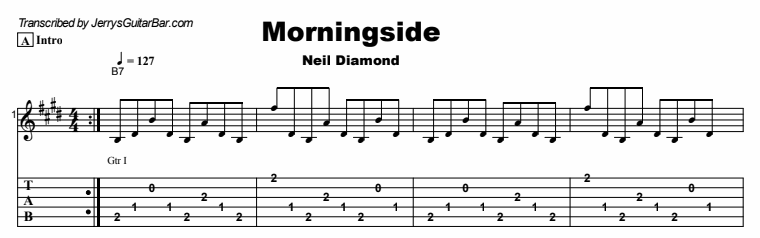 Neil Diamond - Morningside Tab