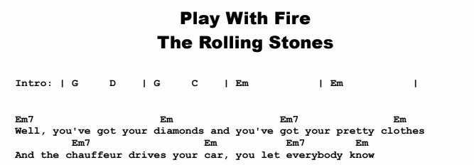 Rolling Stones Play With Fire Guitar Lesson Tabs Chords Jgb